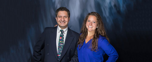 Dr. Alexandra and Dr. Gonzo, dentistst at Dental Haven.